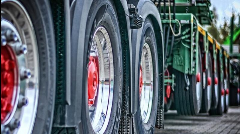 That engine, which would allow the trucks to conveniently travel the same distances as today's conventional diesel trucks, would be a flex-fuel model that could run on pure gasoline, pure alcohol, or blends of these fuels. (Photo: ANI)