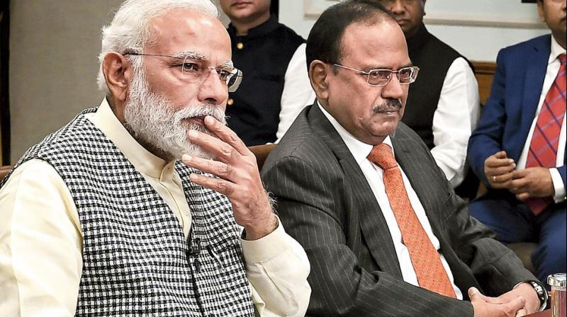 PM Narendra Modi and national security adviser Ajit Doval (PTI)