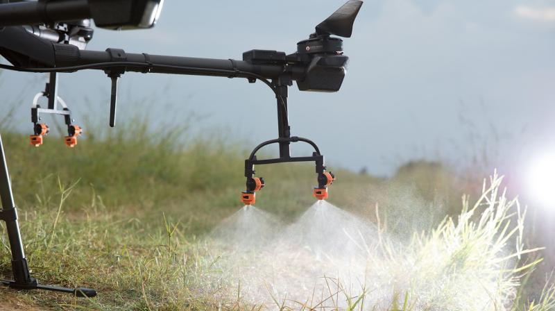 Drones have been in use in the agriculture for the spraying of pesticides. Similar drones will now be used for disinfecting cities. (Representative Image)