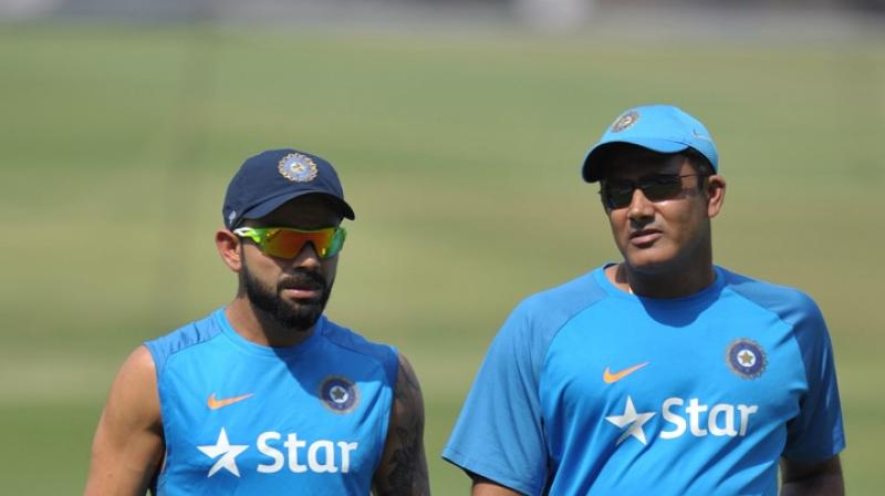 Anil Kumble has supported Virat Kohli's view of having five centres for Test matches in order to bring the spectators back to the stadium. (Photo: AFP)