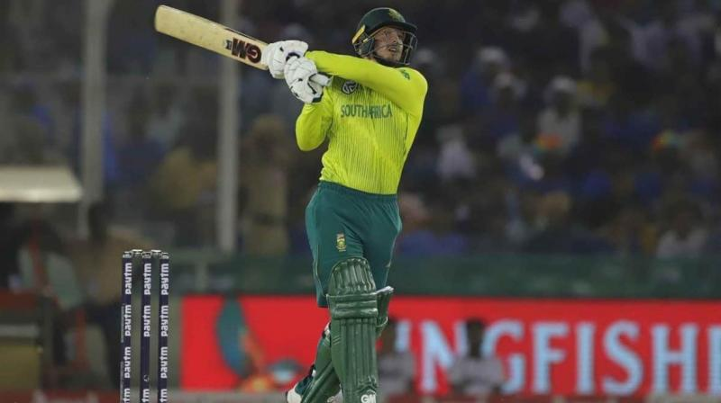 South Africa's Quinton de Kock said that the team's captaincy in T20I format is still Faf du Plessis' 'baby' but he will grab it with both hands if given a chance. (Photo:AFP)
