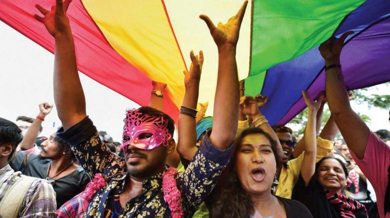 A five-judge Constitution bench of the Supreme Court unanimously decriminalised part of the 158-year-old colonial law under Section 377. (Photo: PTI)