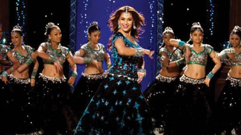 Actor Madhuri Dixit in a scene from the film Aaja Nachle.