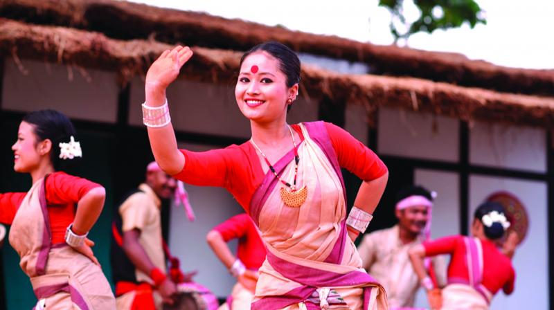 Rongali Bihu is the colour and essencein the name of a festival  that celebrates Asamese new year.