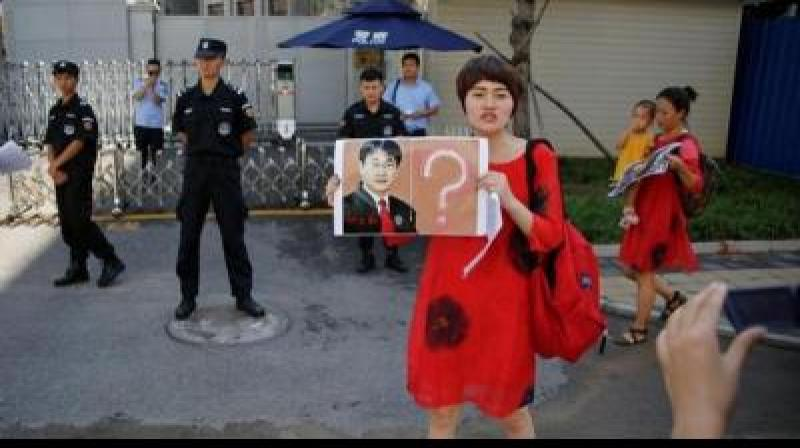 Li Wenzu said that her husband is being detained incommunicado without a proper explanation and they weren't allowing the family's lawyer to visit Wang.(Photo: File)