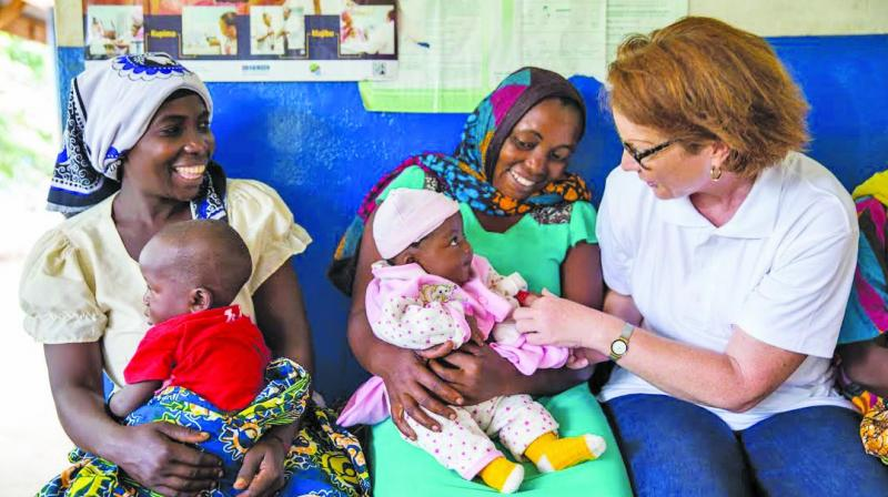 Ulla Muller at a health facility