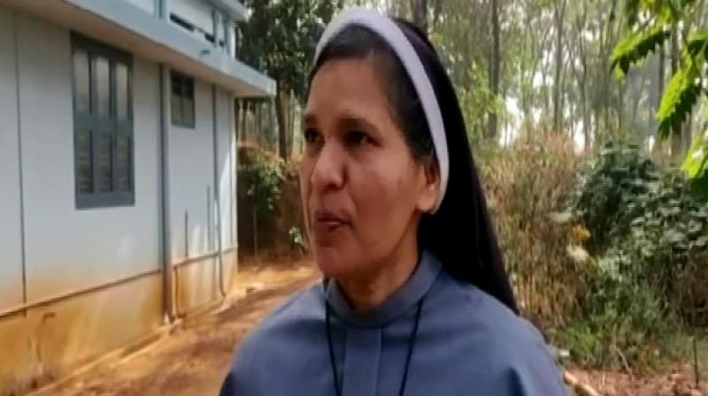 Lucy Kalappura was one of the five nuns who had staged a protest in September last year against rape accused prelate, Bishop Franco Mulakkal. (Photo: File)