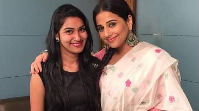 Monica Mishra with Vidya Balan.