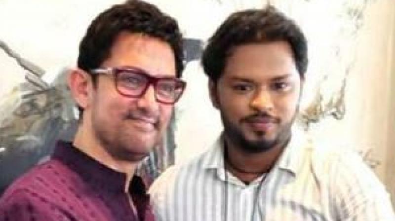 Sandip Pal with Bollywood actor Aamir Khan.