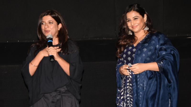 Zoya Akhtar and Vidya Balan.
