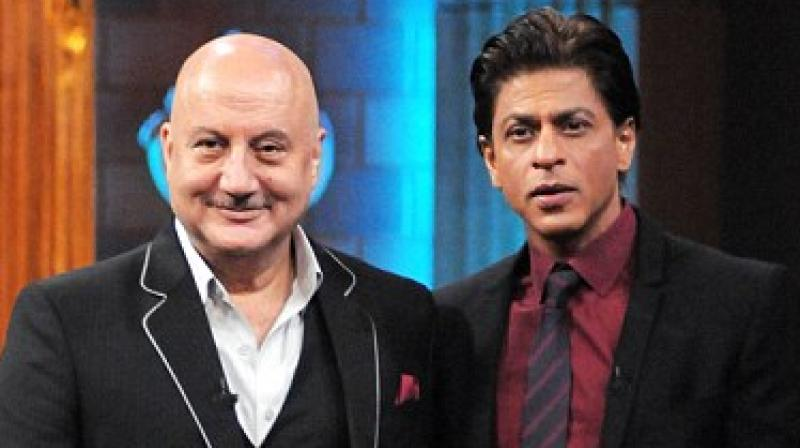 Anupam Kher and Shah Rukh Khan.
