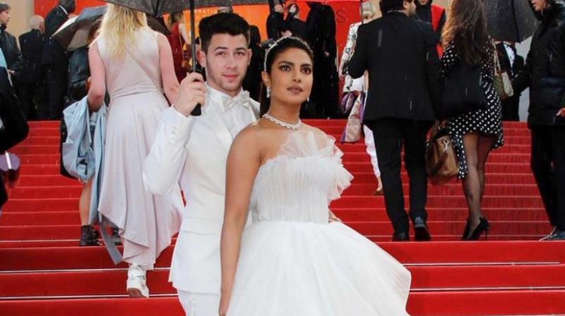 Priyanka Chopra Jonas and Nick Jonas at Cannes 2019. (Photo: Twitter)