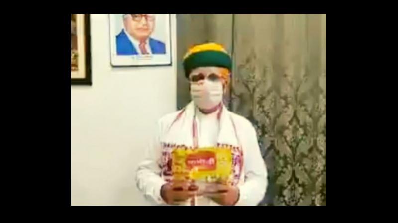 Arjun Ram Meghwal in the video.