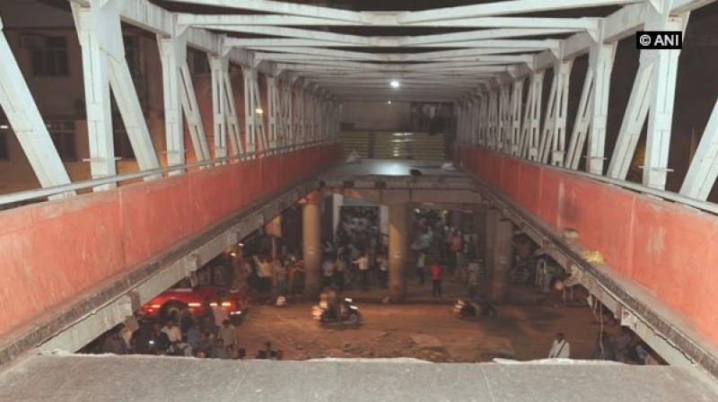 Foot over-bridge collapse, last week leaving six people dead. (Photo: ANI)