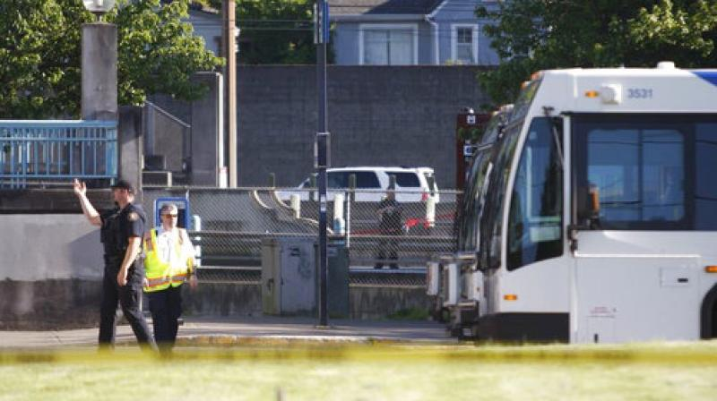 Police investigate a deadly stabbing on a Metropolitan Area Express train in northeast Portland. (Photo: AP)