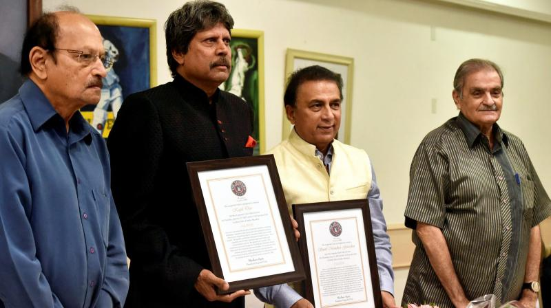 He was presented with a citation by former India player and Legends Club President Madhav Apte. (Photo: PTI)