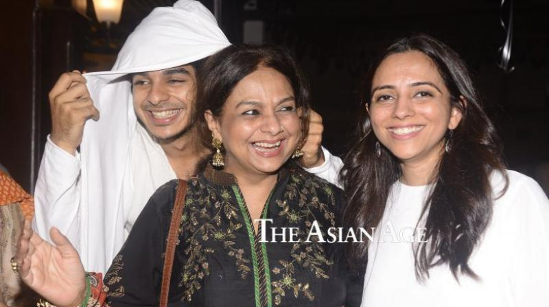 Ishaan Khatter with his mother Neelima Azim at 'Beyond The Clouds' promotions. (Photo: File)