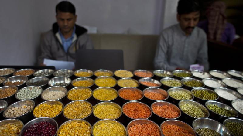 While the Consumer Price Index (CPI)-based inflation rose from 4.23 per cent in April to a six-month high of 6.3 per cent, food inflation soared from 1.96 per cent to 5.01 per cent in May. (Representational Photo:AP)
