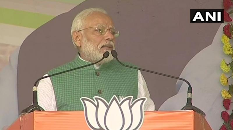 'Congress and its allies are stoking fire over the citizenship Act but people of the Northeast have rejected violence. Actions of the Congress prove that all decisions taken in Parliament are correct,' PM Modi said. (Photo: Twitter | ANI)