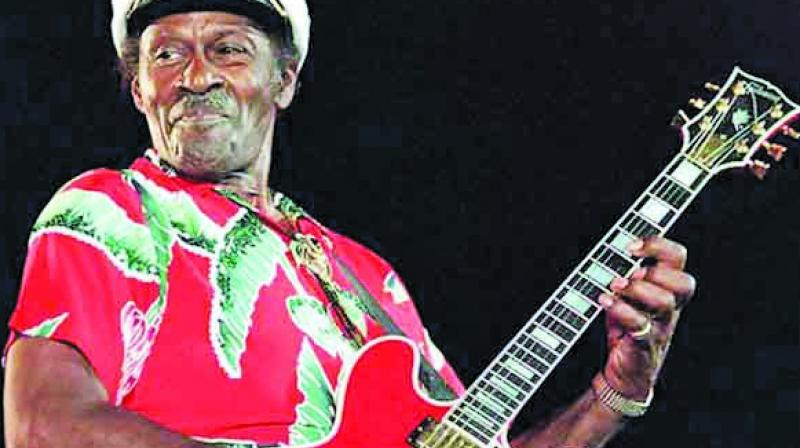 Chuck Berry at a live performance.