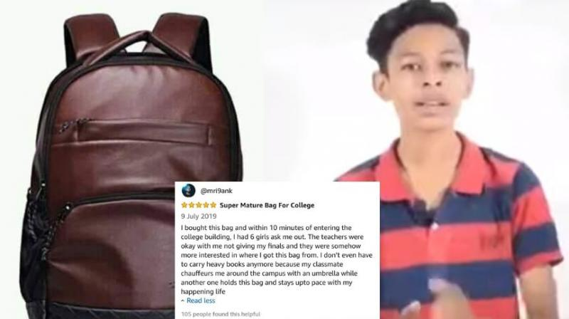 According to the guy, if you carry bag to college, it would play a crucial role in winning you brownie points. (Photo: Screengrab)