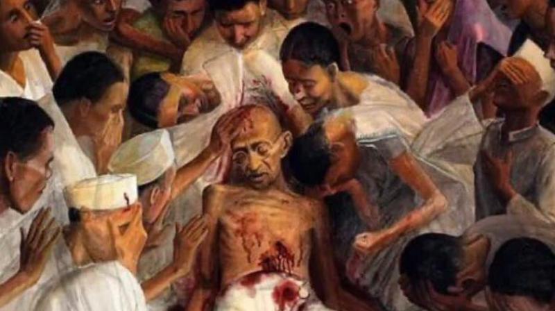 'Gandhi Himsa' by Tom Vattakuzhi