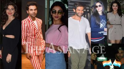 Bollywood celebrities like Alia Bhatt, Ranbir Kapoor, Kartik Aaryan, Sunny Leone, Elnaaz Norouzi, Rajkummar Rao and others were snapped in the city of dreams in Mumbai. (Photos: Viral Bhayani)
