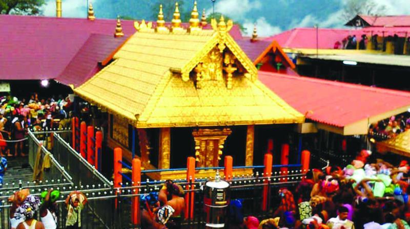 The Ayyappa temple at Sabarimala