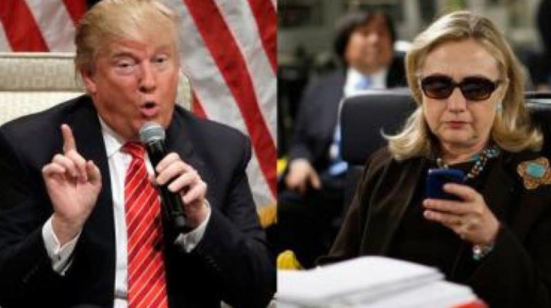 Democrat Hillary Clinton (R) and Republican Donald Trump (Photo: PTI)
