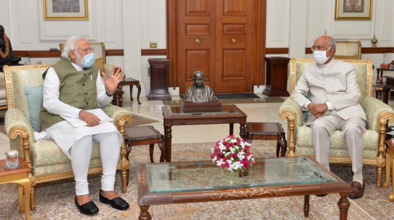 PM Modi meets President Kovind (Twitter image)