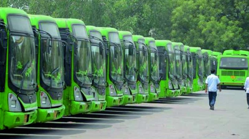The combined strength of 5,600 buses manages to cover nearly 75 per cent of the identified routes in the city.