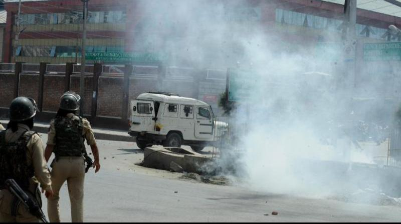 The gunfight broke out between militants and security forces in Gasi Mohalla area of Srinagar. (Photo: H U Naqash)