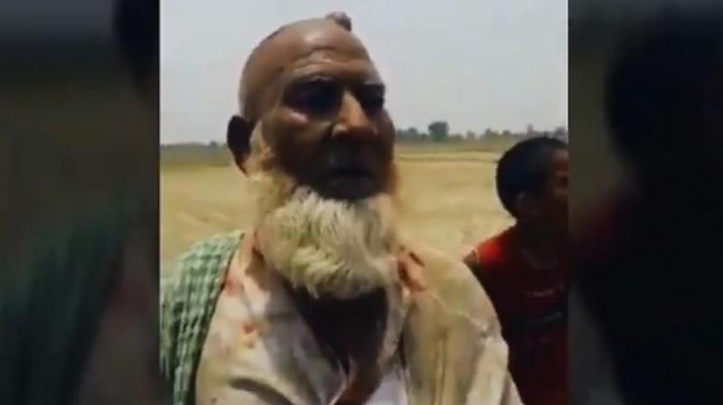 Saniyuddin was forced by the mob to say he was slaughtering a cow in their field. (Photo: Screengrab   Twitter @imMAK02)