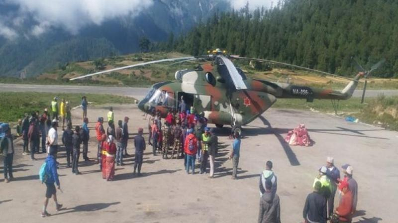 On July 2, a Mission representative conducted a head count and found that 437 pilgrims were stranded in Simikot and 250 pilgrims were stranded in Hilsa. (Photo: ANI)