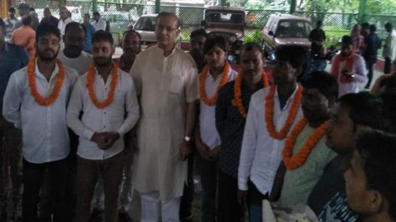 Sinha had expressed happiness over the release of the convicts after being granted bail by the Jharkhand High Court recently, and garlanded and offered them sweets. ( Photo: File)