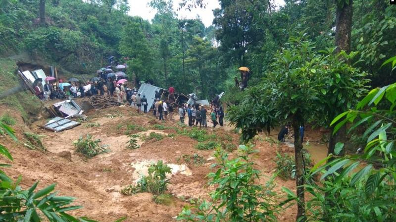 The bodies of seven of the nine people missing following the landslides have been recovered, District Deputy Commissioner Rabinder Singh said. (Photo: ANI/Twitter)