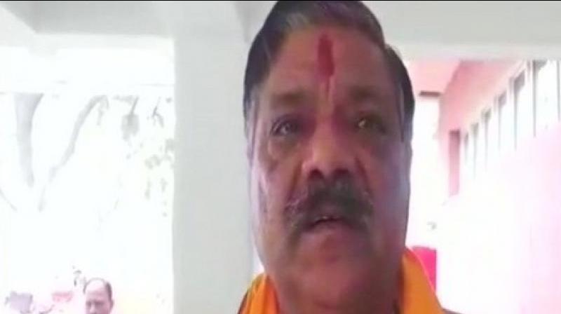 'BJP MLA Pooran Prakash was injured after stones were pelted at his car in Mathura's Jamunapur yesterday,' the Mathura SSP said. (Photo: ANI)