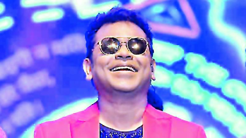 A.R. Rahman recently  performed  at a show in California, USA
