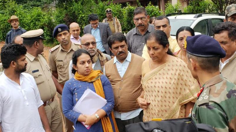 'I follow the minister in charge. Central minister follows the minister in charge here. Unbelievable! You have a list of minute-to-minute for me to follow...I am doing as per your schedule,' Nirmala Sitharaman said in a spat that was recorded on camera. (Photo: Twitter   @PIB_India)