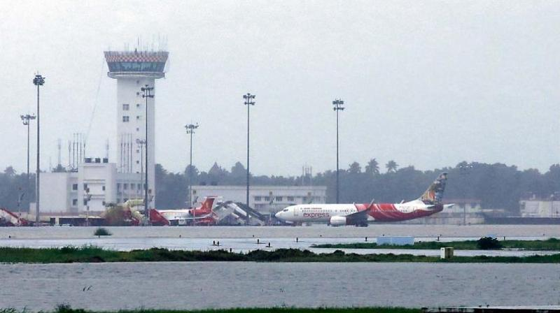 Kochi Airport was closed since past few days due to incessant flooding in Kerala. (Photo: Arun Chandrabose)