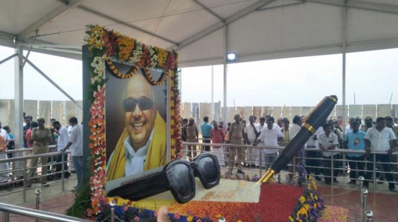 M Karunanidhi, 94-year-old Dravidian stalwart, had served as Tamil Nadu chief minister five times. (Photo: Twitter | ANI)