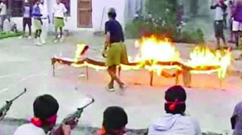 The school is owned by a BJP leader and was rented to the  Bajrang Dal for an event.