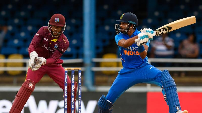 24-year-old Shreyas Iyer played a big role in India's 2-0 series win against the West Indies, ably supporting captain Virat Kohli, who excelled with back- to-back centuries. (Photo:AFP)