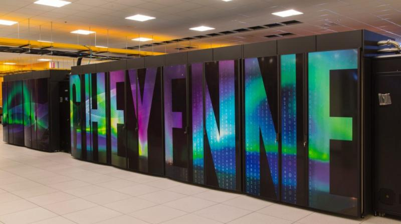 The new supercomputer named Cheyenne, is located at a National Center for Atmospheric Research facility on the outskirts of Wyoming's capital city.