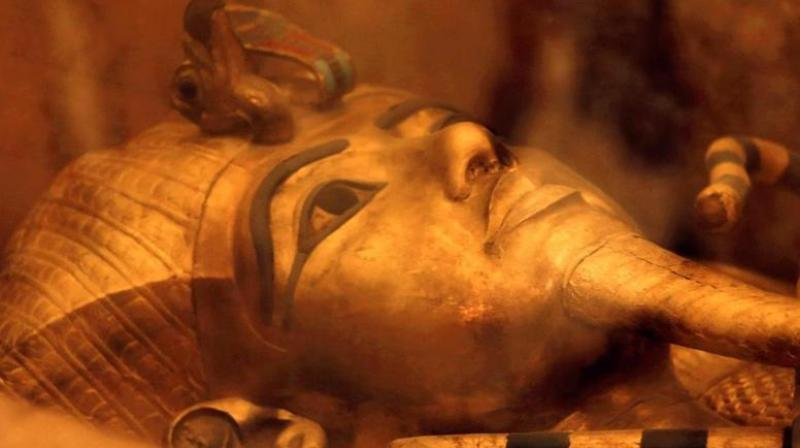 """In 2015, the antiquities minister said that there was a """"90 per cent"""" chance that something was behind the walls of Tutankhamun's tomb. (File Photo/ AP)"""