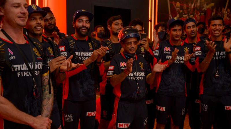 Charity is a big thing with the Royal Challengers Bengaluru team this season. (Photo: Twitter/@RCBTweets)