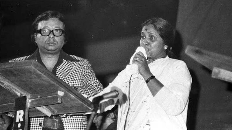 RD Burman with frequent collaborator and wife Asha Bhonsle