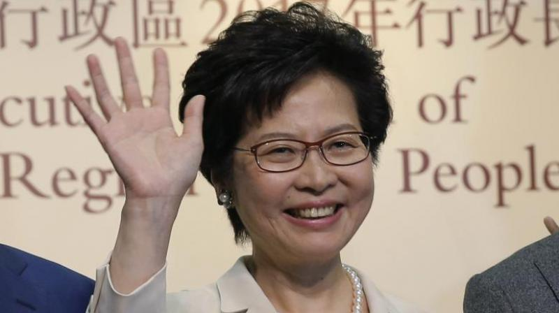 A leaked audio recording emerged in September of Lam saying she would quit if she had a choice -- although she later said she had not contemplated standing down. (Photo: File)