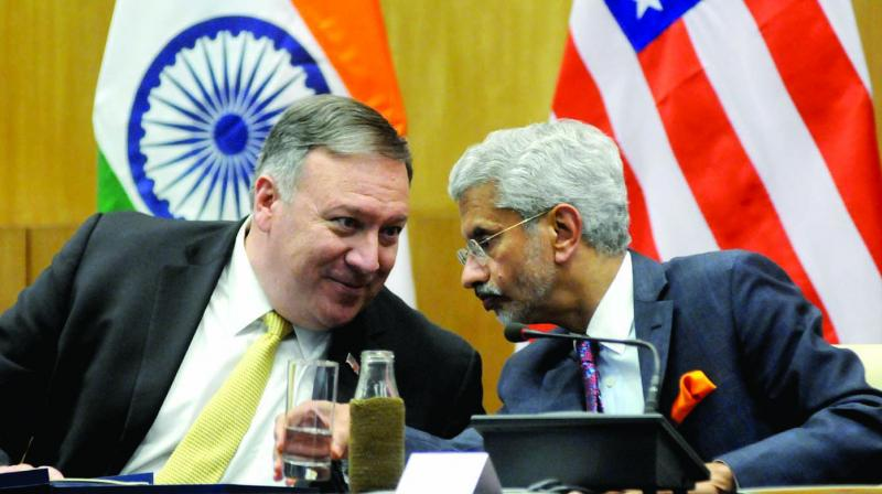 The current Sino-Indian military stand-off was discussed during a phone call between External Affairs Minister S. Jaishankar and US Secretary of State Michael R. Pompeo on Friday. (Photo: G N Jha)