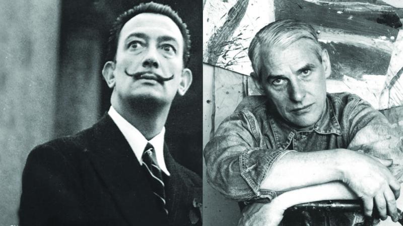 Salvador Dali and Willem De Kooning